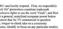"Newegg Respectfully Disagrees With Best Buy's Claims To ""Geek"" Trademark"