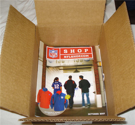 NFL Shop Sends You Their Catalog In A Huge Box