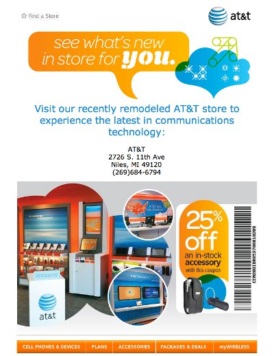 AT&T Really Wants Everyone To Know About Their Remodeled Store In Niles, Michigan