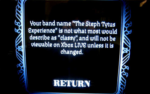 XBox Live Thinks One Name is Offensive, Rock Band Says Another Isn't Classy