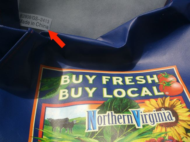 "Shopping Bag Exhorting You To ""Buy Local"" Is Made In China"