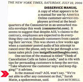 NYT Notes AOL Manual Upload, Questions Raised