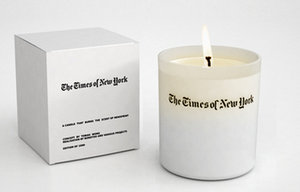 Newsprint-Scented Candle Kindles Nostalgia Without Ink-Stains