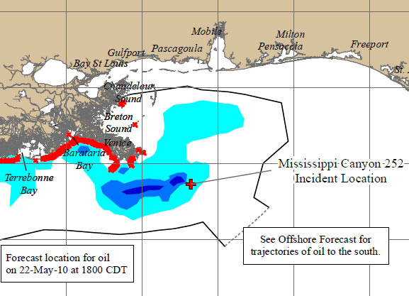 Gulf Oil Spill Oil Reaches Loop Current