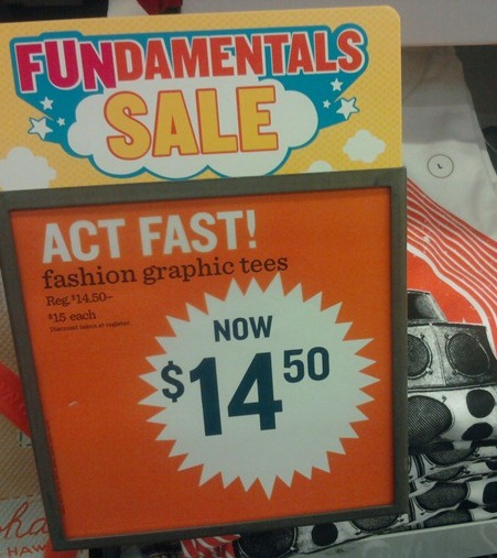 "This Old Navy Hasn't Yet Grasped Concept Of ""Sale"""