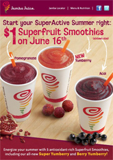 Get $1 Jamba Juice Smoothies Today