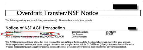 Whoops: Typo Causes You To Overdraft $546,020