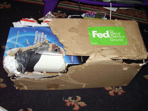 Package Mauled By Puppies After Fedex Delivery Error