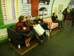 Paris Subway Platforms Transformed Into Large, Very Loud Living Rooms