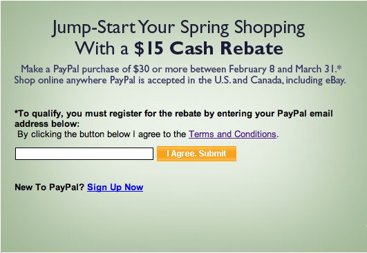 PayPal Restricts Eligibility For $15 Off $30 Rebate