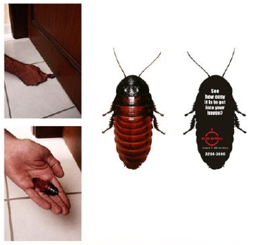 Plastic Cockroaches Advertise For Own Xenocide
