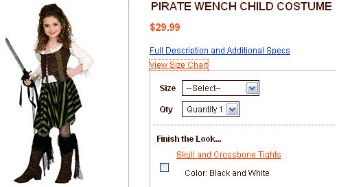 Dress Your Daughter As Pirate Wench For Halloween