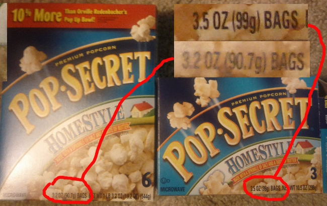 Grocery Shrink Ray Zaps Pop Secret Popcorn