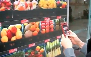Buy Groceries From Giant QR Code Wall In Subway Station