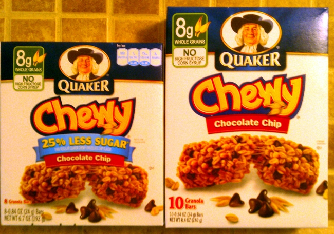 Grocery Shrink Ray Removes Granola Bars From Quaker Boxes