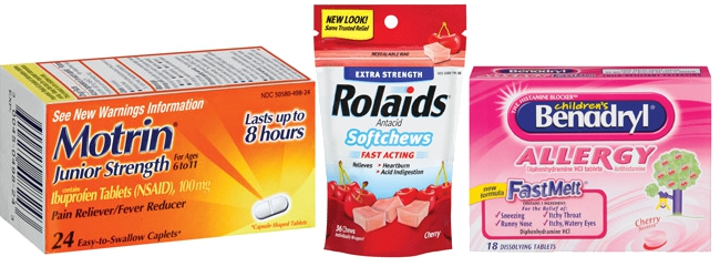 Recalls Issued For Children's Benadryl, Motrin & Rolaids Softchews