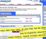 Progressive Responds To Question About Using Recent Military Service To Determine Rates And Eligibility