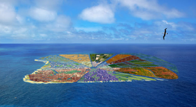 Let's Recycle The Swirling Vortex Of Plastic Garbage Into An Island Utopia