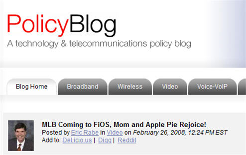 "Verizon Infuriates Baseball Fans With ""Misleading"" Blog Post ""Announcing"" MLB Extra Innings On FiOS"