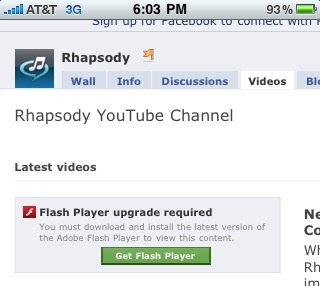 Rhapsody Announces New iPhone Feature With Video iPhone Users Can't See