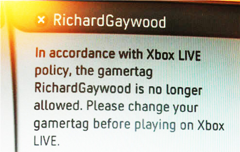 "XBOX Live Decides Your Surname Is Offensive Because It Contains The Letters ""G-A-Y"""