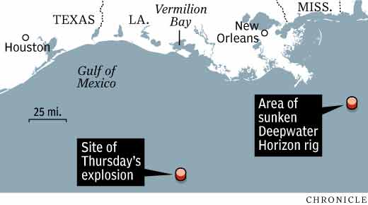 Petroleum Platform Explodes In The Gulf Of Mexico