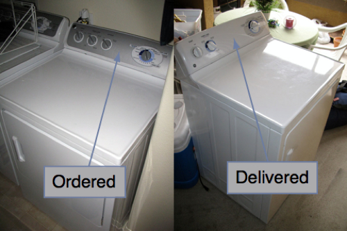 UPDATE: Sears.com Repeatedly Delivers Wrong Dryer, Doesn't Correct Website