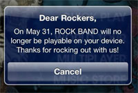 (Updated) EA's Rock Band Game For iPhone Will NOT Self-Destruct In 29 Days