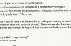 Restaurant Requires You To Sign Contract Forbidding Use Of Phones & Cameras