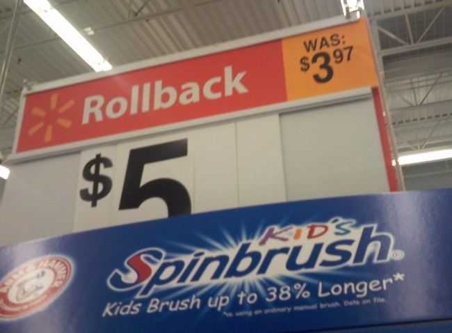 Walmart: Where 'Rollback' Actually Means 'Price Increase'