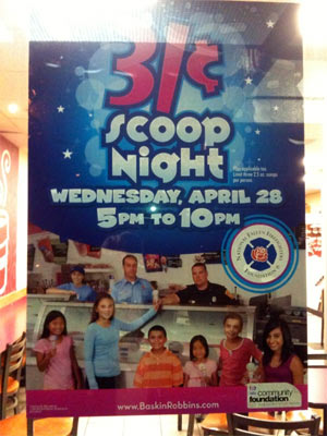 $.31 Ice Cream Scoops At Baskin Robbins Next Wednesday