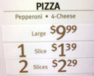 Cheaper To Get Four 2-Slice Deals Than A Whole Pie