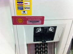 Shell Gas Station Uses Stickers To Prevent Credit Card Skimming