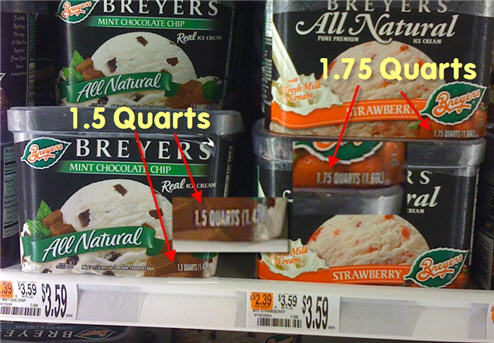 Breyers Ice Cream Shrinks To 1.5 Quarts