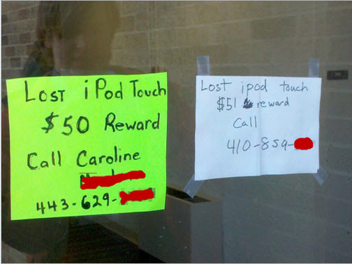 A Lesson In Lost And Found Reward Inflation