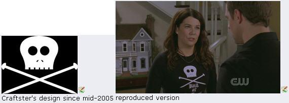 Gilmore Girls Steals Craftster's T-Shirt Design