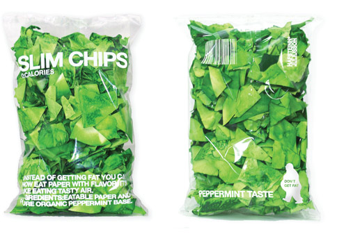Yummy! Flavored Paper Chips.