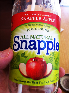 Snapple Tells Me Why Snapple Apple Juice Drink Doesn't Have Apples In Ingredients List