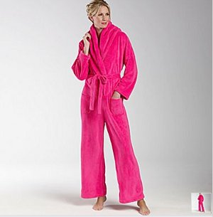 Another Snuggie Hybrid: The Bathrobe Jumpsuit Blanket Thing