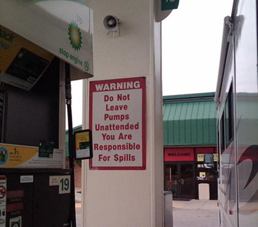 If Only BP Would Follow The Advice On Its Own Signs