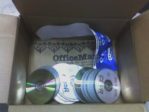 OfficeMax Ships Spindle Of CD-Rs Without The Spindle
