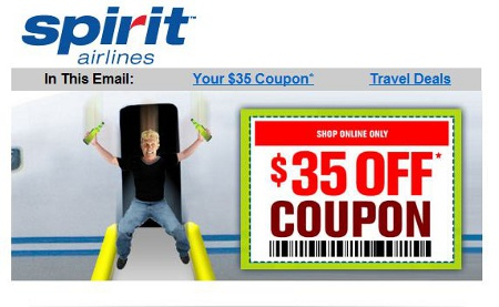 "Spirit Airlines Spoofs JetBlue Slide-Jumper With ""Don't Be Blue"" Coupon"