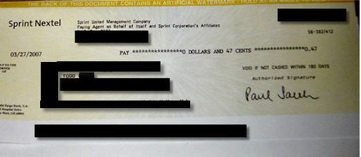Sprint Accidentally Sends You A Bill For $500, But At Least You Got Your $0.47 Check