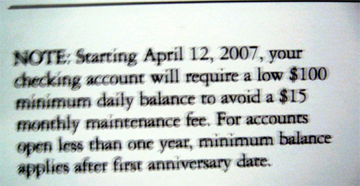 Commerce Bank's Free Checking Now Requires $100 Min Balance