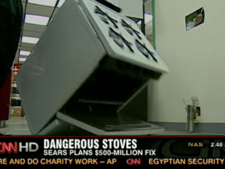 "Sears Settles ""Stove Tipping"" Class Action Lawsuit"