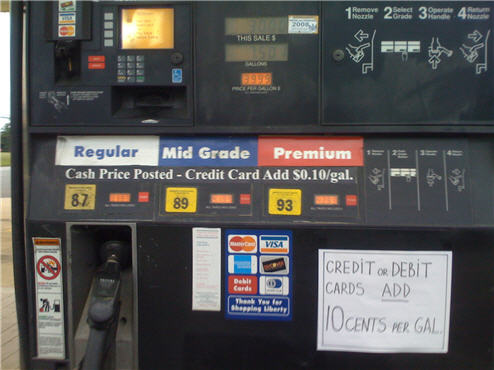 Is This $0.10 Credit/Debit Surcharge On Gasoline Allowed?