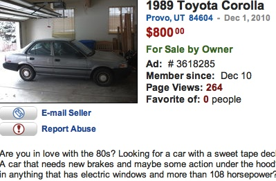 This Used Car Ad Is Totally Tubular