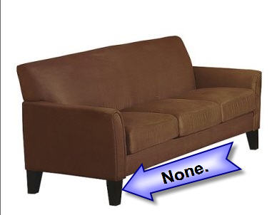 Target Ships Couch With No Screws Or Legs, Wants You To Return It To The  Store U2013 Consumerist