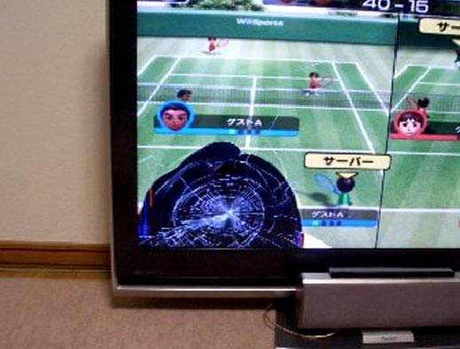 Prevent Wii TV Breakage With Fishing Line