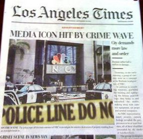 L.A. Times Replaces Front Page With Fake 'Law & Order' News; L.A. Times Readers Really Pissed